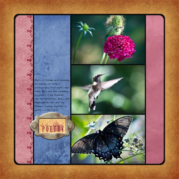 Poetry of the Earth digital layout