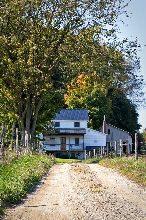 amish house and long lane