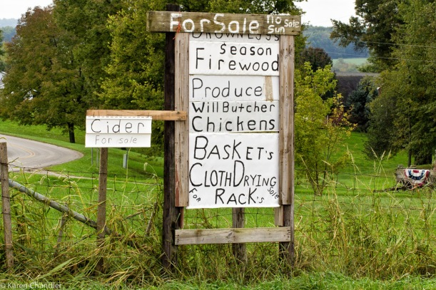 amish for sale signs
