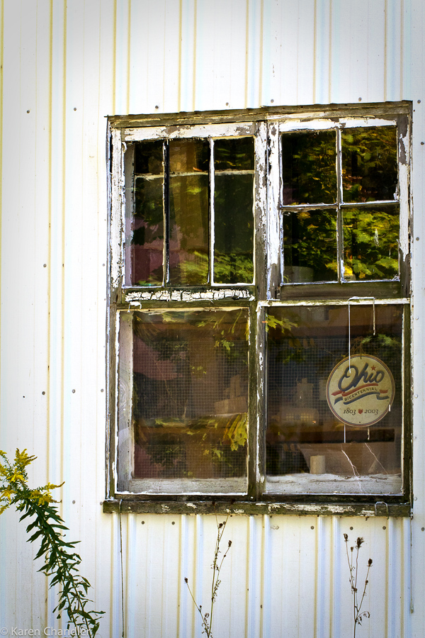 old storage shed windows