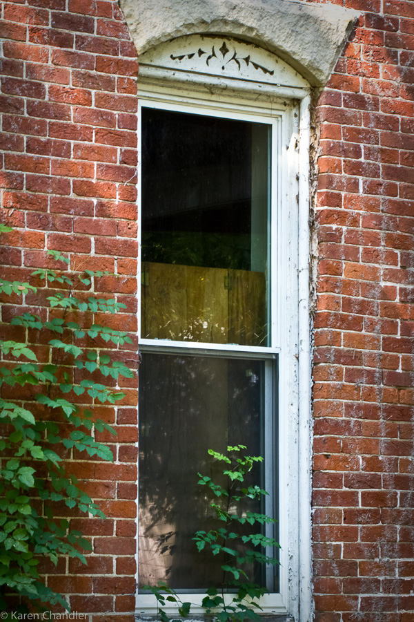 tall window in antique house