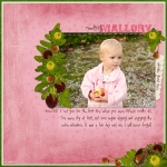 Meeting Mallory digital scrapbooking layout