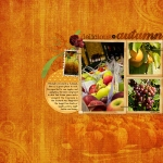 """Delicious Autumn"" digital scrapbooking layout"
