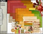 Eclectic Autumn Maxi Kit for digital scrapbooking