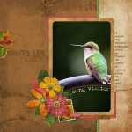 Young Visitor digital scrapbooking layout