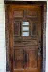 heavy wooden farmhouse door