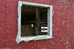 barn window stripped of wood