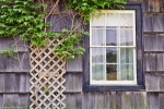 old house window and wall lattice